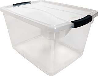 Sponsored Ad - Rubbermaid Cleverstore Clear 30 QT Pack of 6 Stackable Plastic Storage Containers with Durable Latching Cle...