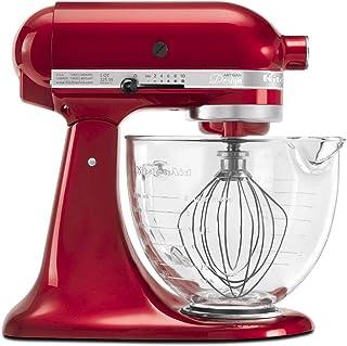 厨房帮手KSM155GBCA 5夸脱Artisan Design系列台式搅拌机 带玻璃碗 苹果红,需配变压器