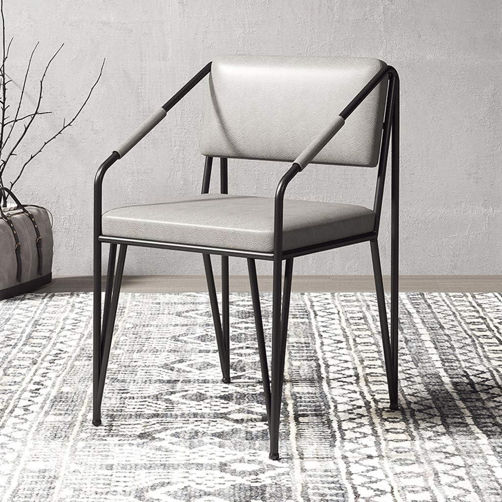 Président WGZ- Chaise de Salle, Chaise de Bureau Simple, créative Dossier, Chaise Loisirs, Maison Adulte Chaise de Salle Simple (Color : Gray-B) Gray-a