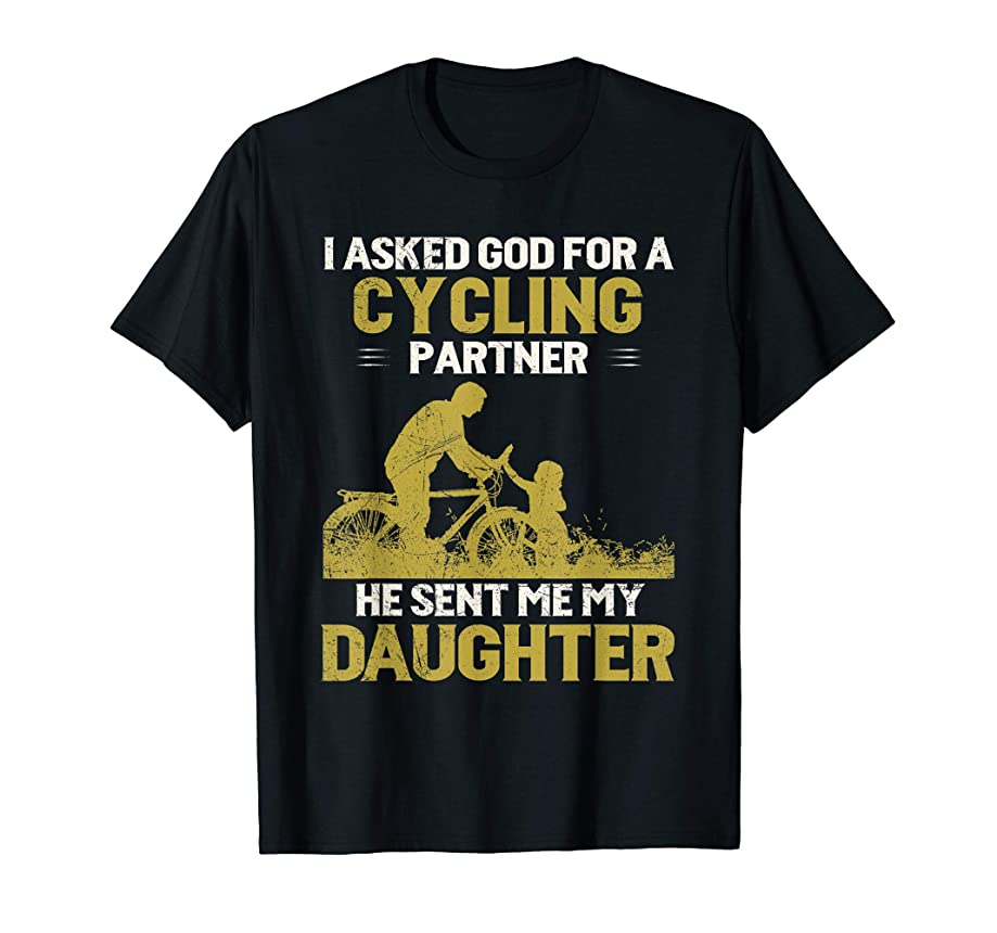 Dad and Daughter Cycling Partners funny father day gift 2019 T-Shirt