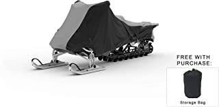 Weatherproof Snowmobile Cover Compatible With 2014 Yamaha Sr Viper Rtx Se - Outdoor & Indoor - Protect From Rain Water, Snow, Sun - Securing Straps - Trailerable - Durable Material - Storage Bag