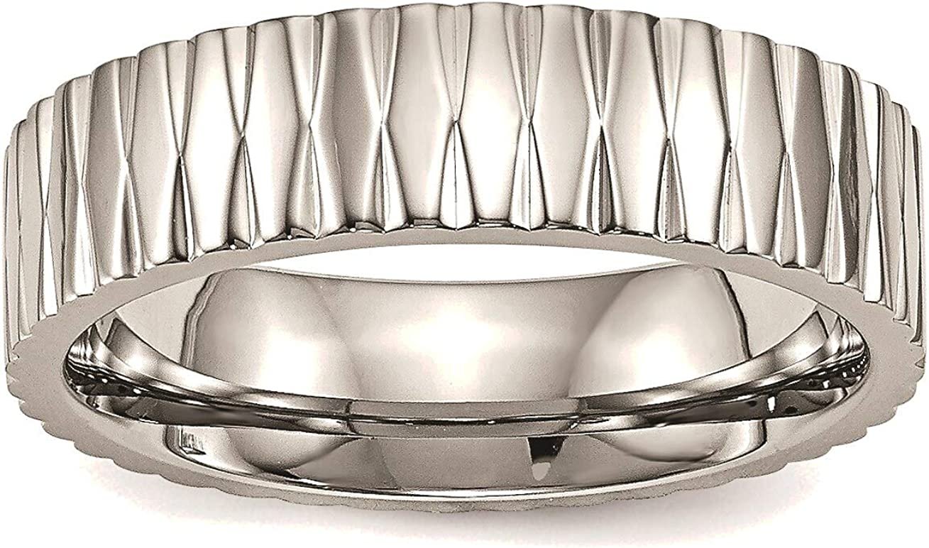 Bonyak Jewelry Stainless Steel Polished Challenge the lowest price Ring Stainle price in Textured