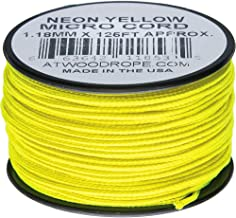 product image for Atwood Rope MFG Micro Cord 125ft Neon Yellow