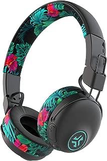 JLab Audio Studio Bluetooth Wireless On-Ear Headphones   30+ Hour Bluetooth 5 Playtime   EQ3 Sound   Ultra-Plush Faux Leather & Cloud Foam Cushions   Track and Volume Controls   Tropical…