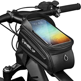 WHEEL UP Bike Accessories Bike Bag Bicycle Bag Frame Front Waterproof Pouch Cycling Handlebar Tube Bag Touch Screen Mobile...
