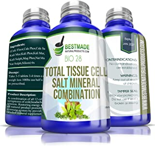 Sponsored Ad - Total Tissue Cell Salt Mineral Combination Bio28, 300 pellets, Helps Your Body Absorb and Use Nutrients, In...
