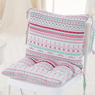 JiaQi Seat Cushions with Ties for Chair,Printing Thicken Chair Cushion,Soft Cozy Tatami Used for Tailbone Pain Filled with pp Cotton-E Non-slip45x40x40cm(18x16x16inch)