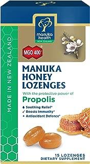 Manuka Health, MGO 400+ Manuka Honey Lozenges with Propolis, 15 lozenges, 2.66oz