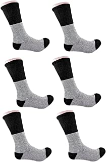 3 Pairs Men Heavy Duty Thermal Insulated Winter Boots Hiking Crew Socks 10-15