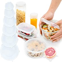 Palmeira Reusable Silicone Stretch Lids - 12 Stretchable Silicone Food Covers in Different Sizes - Flexible Cover Lid Set ...