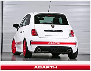 snstyling.com Fiat 500 Rear Stripe Abarth (red)