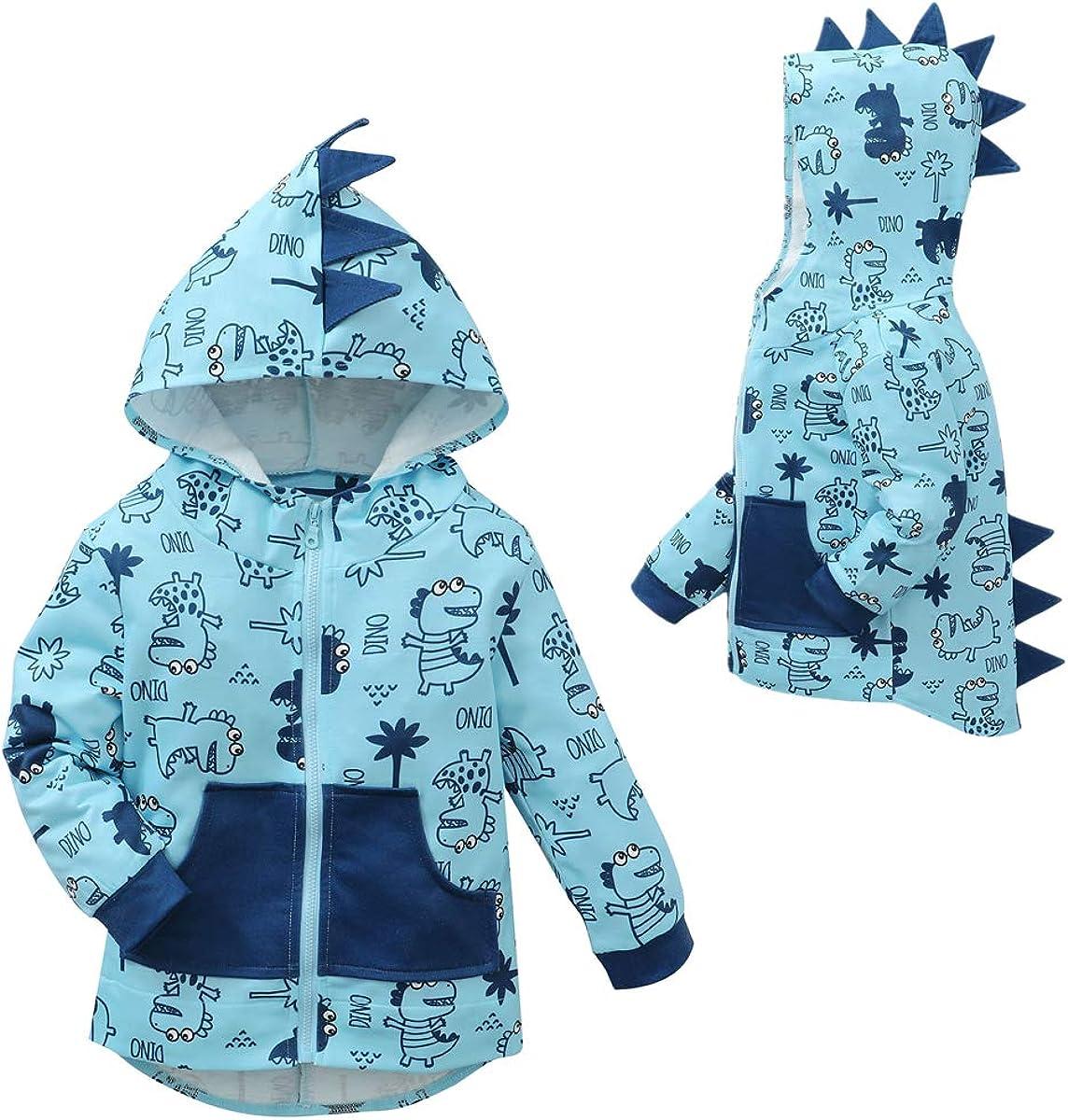 FANTANGPAI Baby Boy Girl Clothes Toddler Boy Dinosaur Hoodie Sweatshirt Hooded Jackets Full Zip