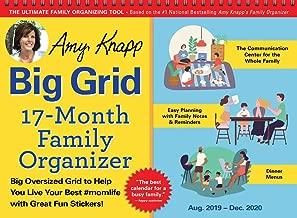 2020 Amy Knapp's Big Grid Family Organizer Wall Calendar: August 2019-December 2020