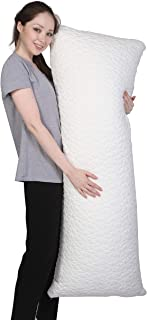 Metron -Total Body Pillow with Adjustable Shredded Memory Foam - Perfect for Cuddling, Snuggling and Maternity – Full Size...