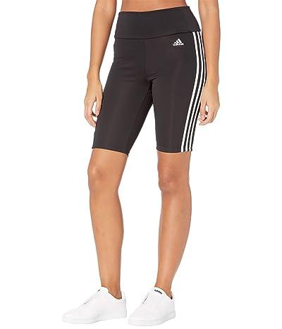 adidas 3-Stripes Short Tights (Black/White) Women