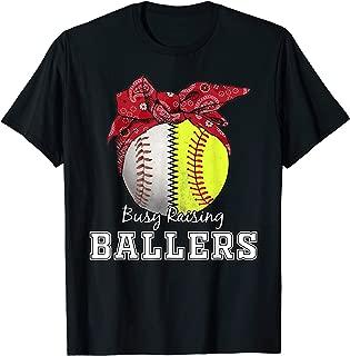 Busy Raising Ballers Softball Baseball T-Shirt baseball mom T-Shirt
