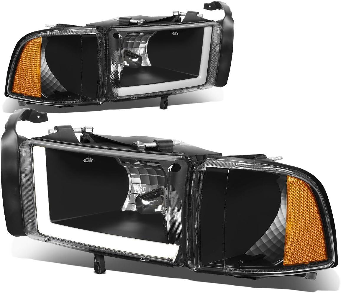 贈り物 Pair LED DRL Black Housing Amber Lamps Replace 半額 Headlights Corner