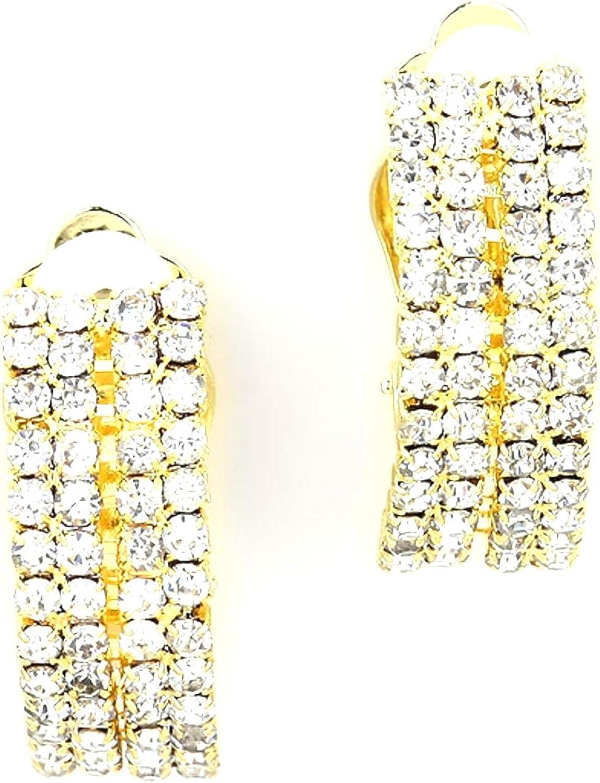 Fashion Rhine-Shell Clip-On Earrings For Women / AZERCO969-GCL