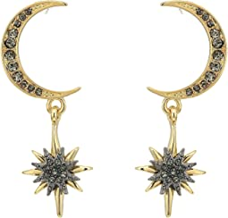 Vince Camuto - Celestial Skies Crescent and Star Drop Earrings