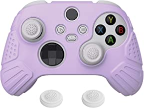 eXtremeRate PlayVital Guardian Edition Mauve Roxo ergonômico macio controlador capa de silicone, película protetora de bor...