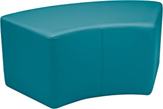Shapes Structured Vinyl Soft Seating with Durable Frame - S Curved Bench/Stool 18