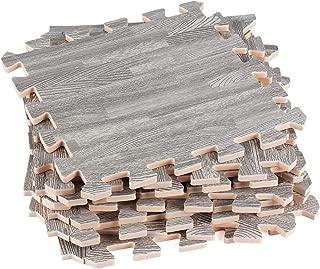 Interlocking Floor Mats – Interlocking Floor Tiles – Wood Foam Floor Tiles – Wood Grain – Ideal for Home, Office, Playroom, Basement, Trade Show
