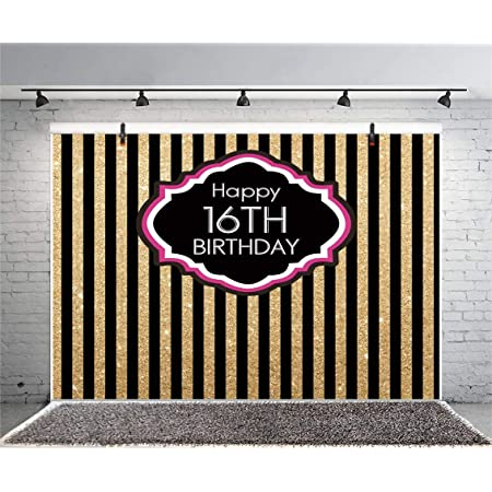 16Th Birthday Backdrop Yeele 10x10ft Adolescent 16 Years Old Birthday Party Banner Decor Photography Background Boy Girl Teenager Juvenile Portrait Shooting Studio Props Photocall