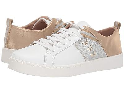 Jack Rogers Ainsley Sneaker (White Metallic) Women