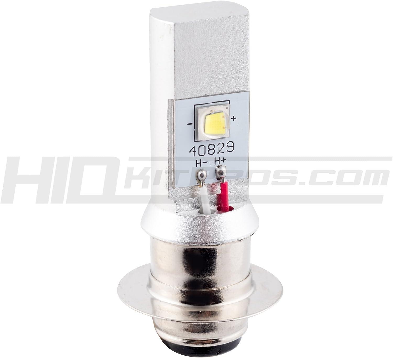 2X White 6000K H6M P15D ATV UTV Motorcycle LED Headlight Bulbs Hi//Lo Beam 12-36V