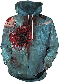 URVIP Unisex Long Sleeve Sweatshirt 3D Funny Halloween Print Sweatshirts Hoodies