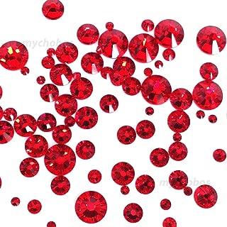 LIGHT SIAM (227) red 144 pcs Swarovski 2058/2088 Crystal Flatbacks red rhinestones nail art mixed with Sizes ss5, ss7, ss9, ss12, ss16, ss20, ss30