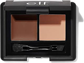 e.l.f, Eyebrow Kit, Brow Powder and Wax Duo, Long Lasting, Defines, Shapes, Fills, Contours, Medium, Fuller, Thicker, More Defined Brows, Brush Included, 0.13 Oz
