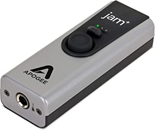 Apogee  Jam Plus - Portable USB Audio Interface for Guitars, Bass, Keyboards  and Instruments , Works with iOS, MAC OS and Windows PC, Made in USA
