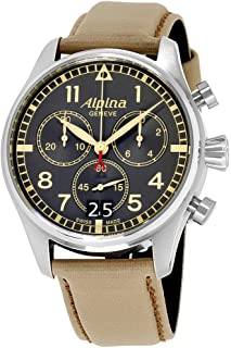 Alpina Startimer Grey Dial Textile Strap Men's Watch AL-372BBGR4S6