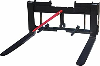 """Titan Skid Steer 42"""" Pallet Fork Attachment and 49"""" Hay Bale Spear for Tractors"""