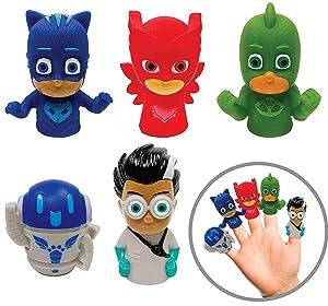 Ginsey Piece Finger Puppet Set, PJ Masks, 5 Pack