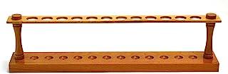 """Eisco Labs Premium پانل های چوبی لوله تست، (12) سوراخ 22 میلیمتر، 16.75 """"طولانی"""