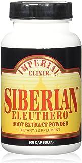 Imperial Elxir Siberian Eleuthero Root Extract Powder (100 Capsules)