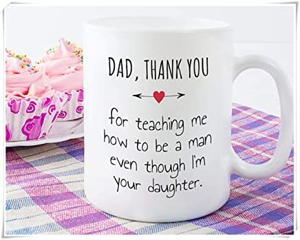 f5941f55f52 Fathers Day Gift from Daughter, Fathers Day Mug from Daughter, Dad Thank  You for