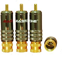 Eastone Hi-End E0530 RCA Plug Connector 24k Gold Plated Top Quality, 4 Pairs
