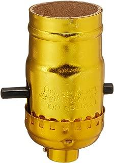 Leviton C20-06098-0PG 1-Circuit Lamp Holder, 660 W, Incandescent, Medium, Phenolic Body, Aluminum Shell, Brass