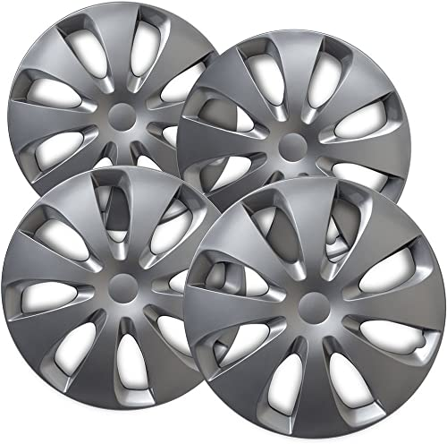 popular 15 inch Hubcaps Best for 2012-2016 Toyota Prius - (Set of 4) Wheel Covers 15in Hub Caps Silver Rim Cover - Car wholesale Accessories for 15 inch Wheels - Snap On Hubcap, Auto Tire Replacement online sale Exterior Cap online