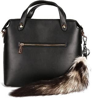 URSFUR Savanna Fox Tail Fur Keychain Cosplay Toy Bag Charm Pendant Purse Tassel