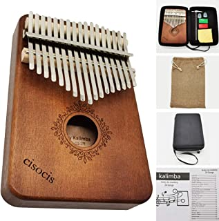Kalimba 17 Keys Thumb Piano,with Waterproof Hard Protective Case Musical Instruments,24 Sheet Music Book