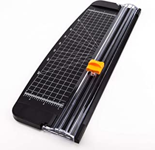 AIEX A4 Paper Cutter Portable Guillotine Paper Trimmer with Automatic Security Safeguard for Home and Office Papers Cards Labels Coupons Photos Cutting(14.8 inches, Black)