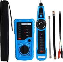 Professional Wire Tracker RJ11 RJ45 Cable Tester for Ethernet LAN Telephone Line Test Network Cable Collation Wire Tracing Continuity Checking Positive/Negative Polarity Ring/TIP Line Level Detection