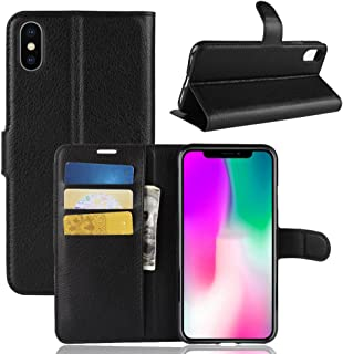 iPhone XR Wallet Case,PU Leather Phone Case [Card Slot] [Flip] [Stand] Carry-All Case [TPU Interior Protective Case] [Magnetic Closure] for iPhone XR, Black