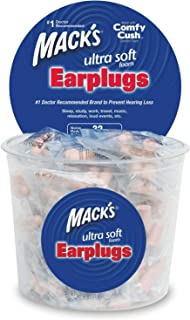 Mack's Ultra Soft Foam Earplugs, 100 Pair - Individually Wrapped - 32dB Highest NRR, Comfortable Ear Plugs for Sleeping, Snoring, Work, Travel and Loud Events