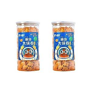 Asian Chinese Snacks, Chinese Pumpkin Crisp, Spicy Barreled SnacksVegetarian, Non-GMO 360g/12.7oz 大侠卷南瓜酥零食 nanguasu