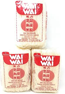 Wai Wai Oriental Style Rice Noodles 500g, 3 Pack
